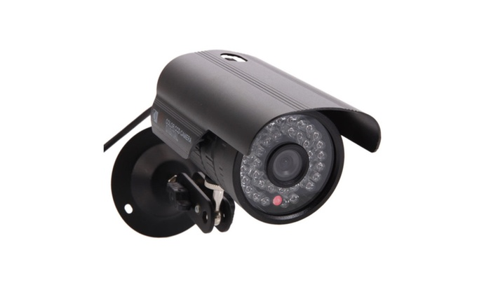 "1/3"" CMOS 1200TVL 6mm 36-LED outdoor waterproof security camera"