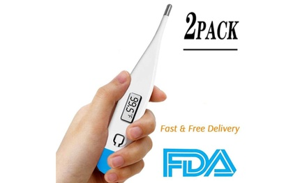 New Basal Body Thermometer , Highly Accurate Digital Thermometer-2PACK
