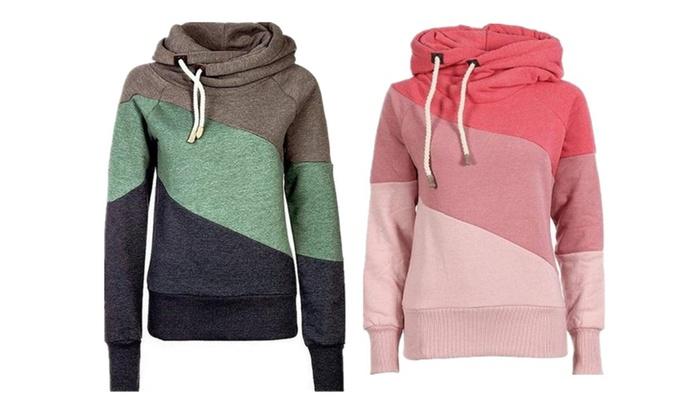 WealFeel Casual On Street Splicing Hooded Sweatshirt