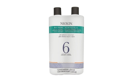 Nioxin System 6 Noticeably Thinning Hair Cleanser & Conditioner 108638b3-c6e5-4d2c-b3f4-9fdc36da2499