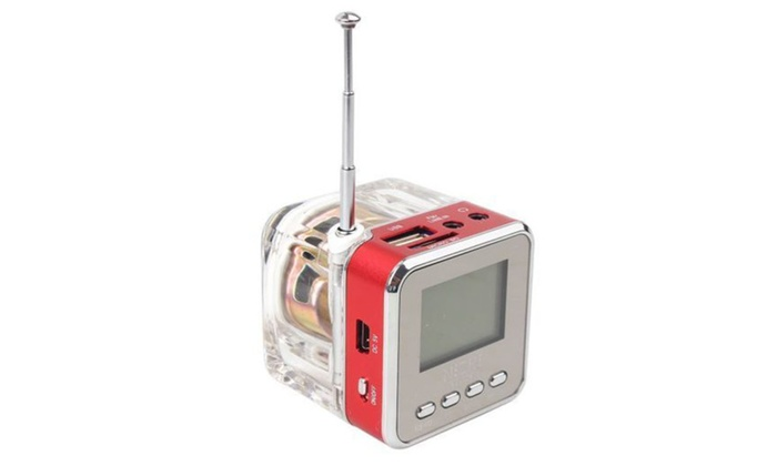 NiZHi TT-029 LCD Portable FM radio Clock Alarm USB TF  Mp3 Player Mini Speaker