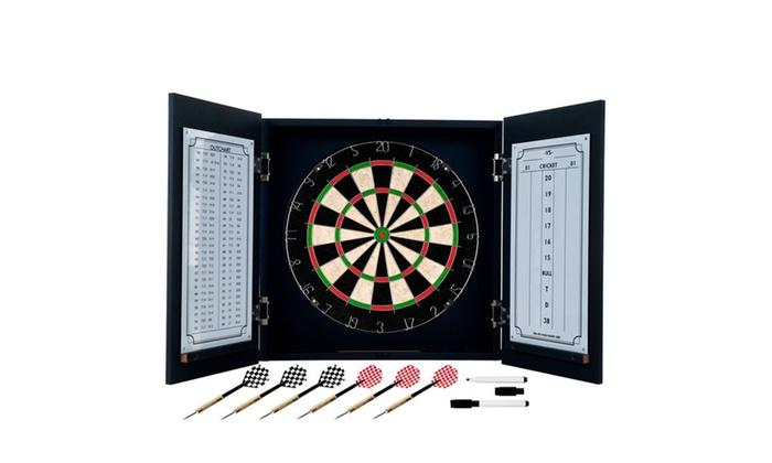 Incroyable Black Laminate Dart Cabinet Set ...