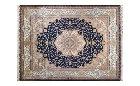 Traditional Hand Knotted Persian Silk Carpet - Silk / 9ftx12ft (274cmx366cm) / Traditional f8af618b-e8ec-4d7b-b1ec-2c9c28f75426