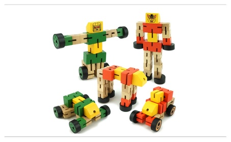 Wooden Transformation Robot Cars Toys Kid Learning Building Blocks Toy aa819655-75fb-4645-b19c-e2fd7e3d0f95