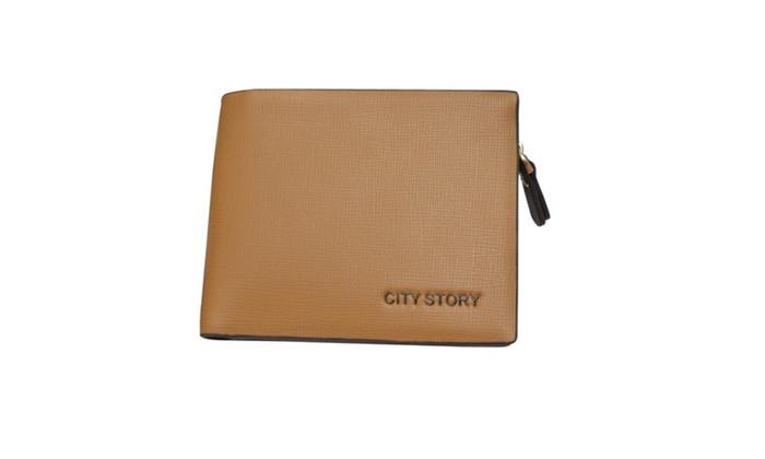 Men's Short Wallet With Zipper Brown - JPMW914 - Brown