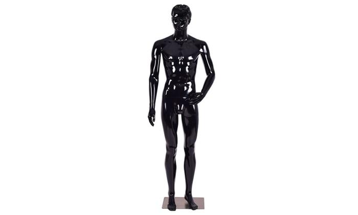 Male Mannequin Full Body Dress Form Display Plastic High Gloss ...