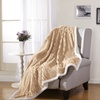Luxury Home Reversible Corduroy Sherpa Throw Blanket