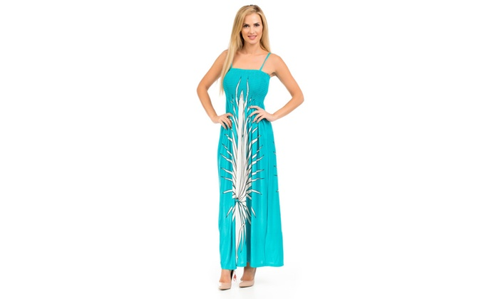 Maxi Summer Dress With Adjustable Straps