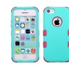 Insten Tuff Hard Hybrid Silicone Case For Iphone 5c Teal Hot Pink