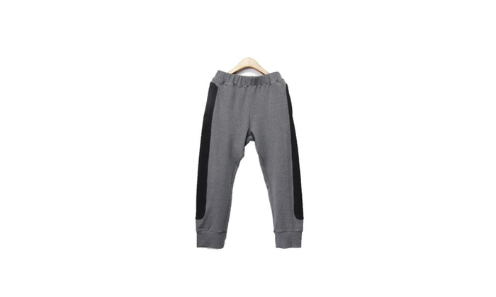 Men's Casual Solid Slim Fit Colorblock Pants