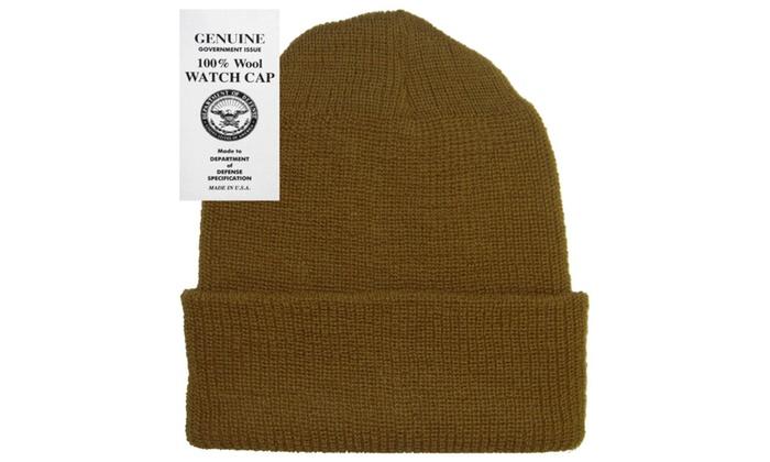 Military Genuine GI Winter USN Warm Wool Hat Watch Cap  93162612622
