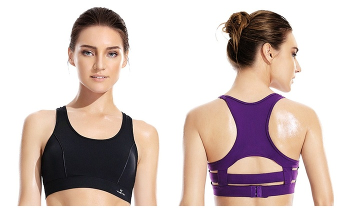 Yvette Women High Impact Jogging Running Bandage Sports Bra 080248