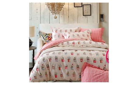 Riho 4-Piece 100% Cotton Full Queen Size Rural Girls Bedding Sets 6f6ecf46-40f9-44a9-a481-3da6fd0b3045