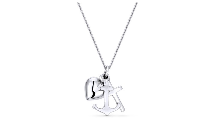 73ecc657d Heart Anchor Cross Charm Necklace - The Best Price Necklace In 2018