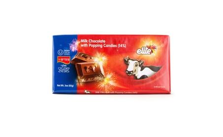Elite Milk Chocolate With Popping Candies 3 Oz. Pack Of 12. 536d464c-ac78-4f9c-ba3e-b0ca9b90380b