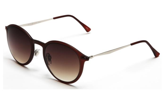 Modern Sunglasses  samba shades modern round liz la designer sunglasses groupon