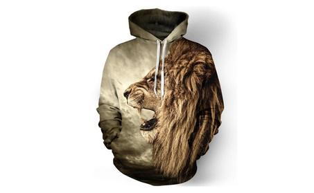 King of Lion Men Hoodie Cool Creative 3D Digital Printing Sweatshirt 5d502058-cd0b-41f7-8e7b-faef043dd64d