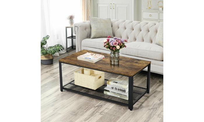 Up To 57 Off On Industrial Accent Coffee Tabl Groupon Goods