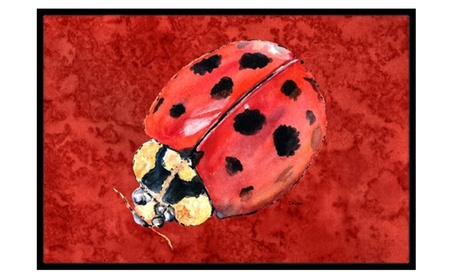 Carolines Treasures 8870MAT Lady Bug on Deep Red de9f4dbb-9e84-46fe-9cda-fd22872a3a6f