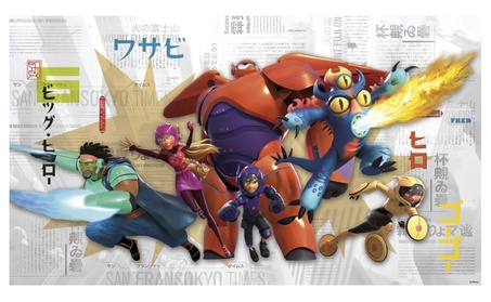 Roommates Decor Big Hero 6 XL Chair Rail Prepasted Mural 6' x 10.5' 9af337e7-30fc-4a64-bb78-69ee0119093a