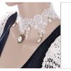 Fashion Elegant Handmade Lace Beads Collar Choker Necklace