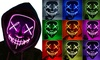 Halloween Scary Mask LED Light Up Mask for Halloween Festival Party Costume