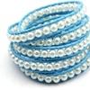 Blue Pearl Wrap Bracelet