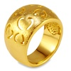 Goldplated Stainless Steel Cut out Heart Ring