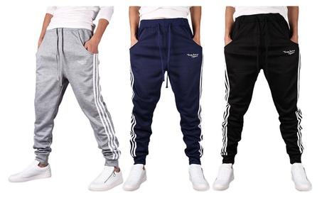Men's Basic Casual Jogging Pants Sweat Pants f83b1970-80c2-444e-acbe-8ea23278f541