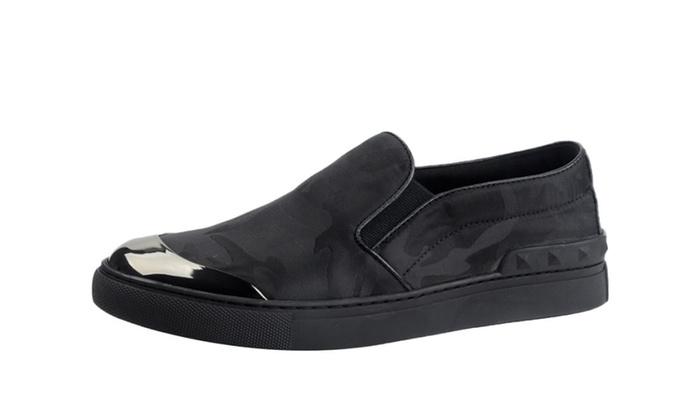 Men's Leather Slip On Sneaker Loafer Shoes