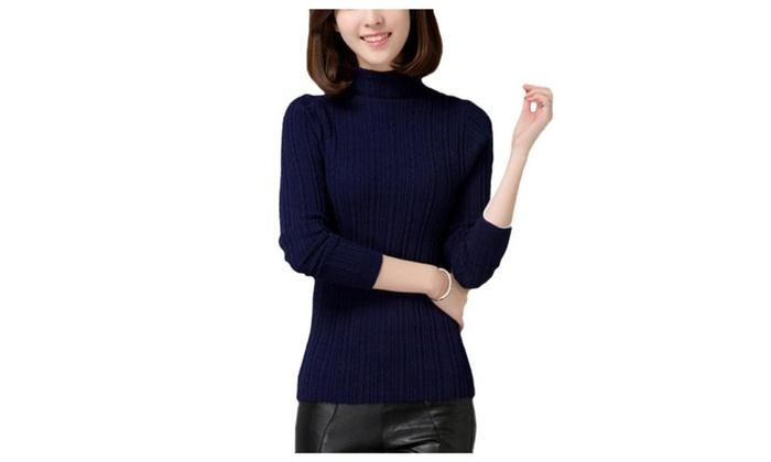 Women's Simple Pullover Fashion Straight Hem Solid Pullovers
