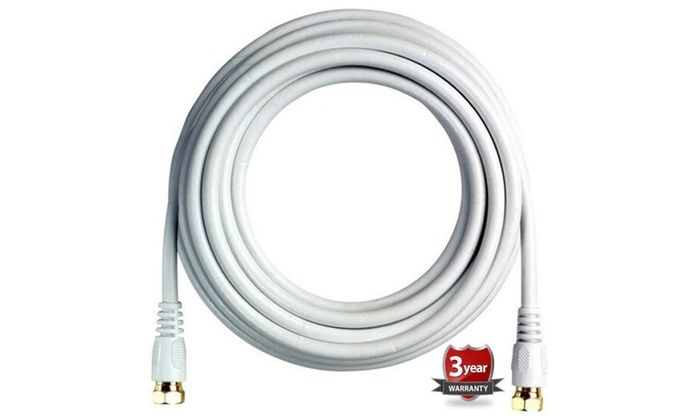 BoostWaves 50ft Rg6 High Definition HDTV Coaxial Cable – Low Loss