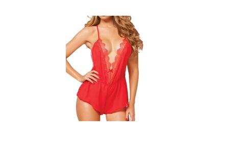 Sexy Summer Lace V-neck Babydoll Backless Sleepwear 8f8bc5de-6c87-4966-9626-016f26f80d05