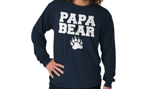 032b222a4 Papa Bear Father Day Funny Dad Strong Gym Long Sleeve T Shirt
