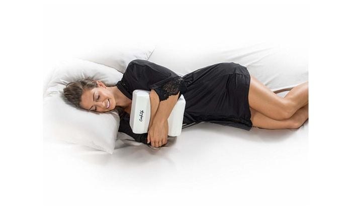Back Pain Leg Pain, ComfiLife Orthopedic Knee Pillow for Sciatica Relief