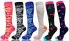 3-6 Pack Compression Socks Camouflage Graduated Sports Socks for Men & Women
