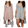 Women Half Sleeve High Low Loose Casual T-shirt Tops Tee Dress
