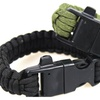 Awsome Men's Survival Bracelet Paracord Flint Fire Starter Scraper