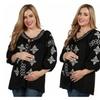 24/7 Comfort Apparel Devyn Maternity Tunic Top