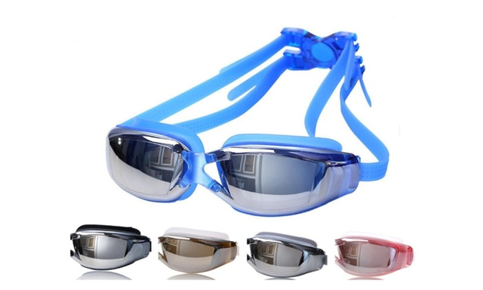 Swim Goggles for Adult No Leaking,UV Protection, Anti-Fog Mirrored Len