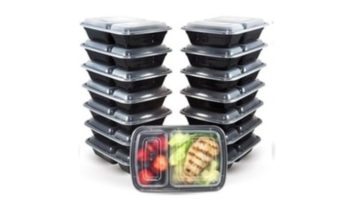 16 Pc Reusable Food Storage Containers Meal Prep Fitness with lids