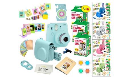Fujifilm Instax Mini 9 Camera + 60 Fuji Instant Film + Accessory Kit e692e120-0550-4169-be67-bce168763a9d