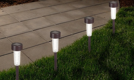 Solar-Powered Outdoor LED Stake Spotlights (6-Pack)