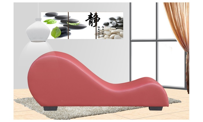 Faux leather stretch chaise relaxation and yoga chair | Groupon