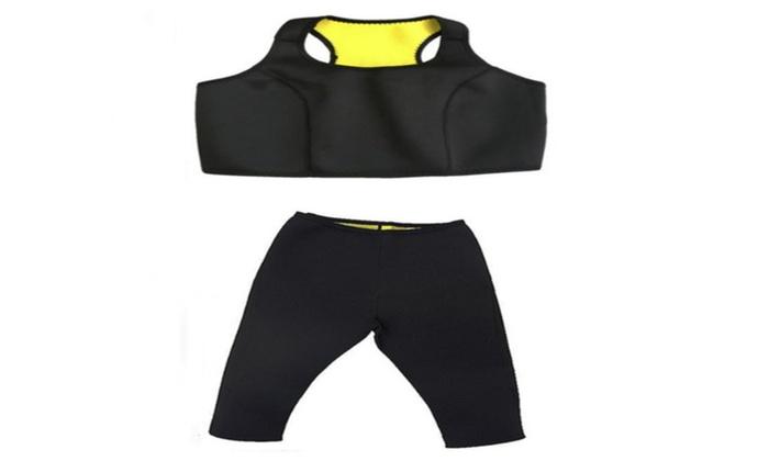Premium New Saunafit Slimming Thermal Neoprene Bra and Capri Pants