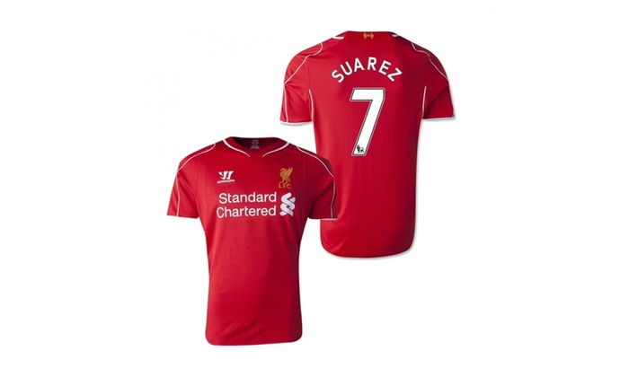 brand new d0604 0a0c8 Liverpool Home Jersey 2014-2015 Suarez 7