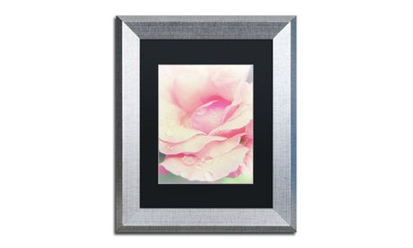 PIPA Fine Art 'Softened Rose' Matted Silver Framed Art aa30015d-b43a-4523-8f66-fc6ef57d87fd