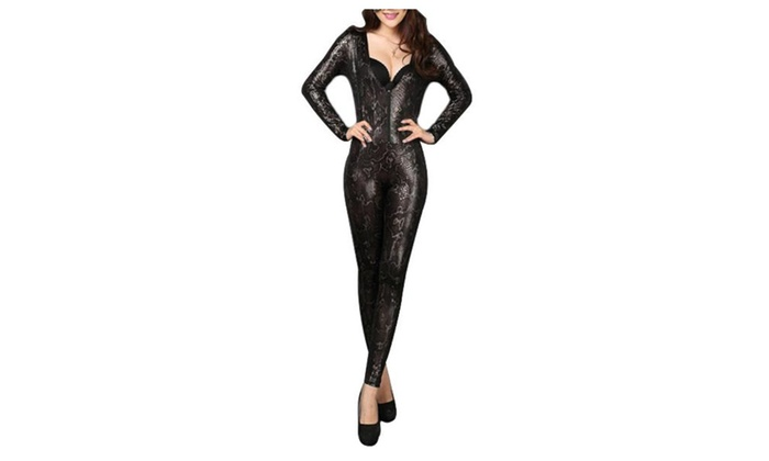 Women's Long Sleeve Fashion Snakeskin Print Simple Costumes - As Picture / One Size