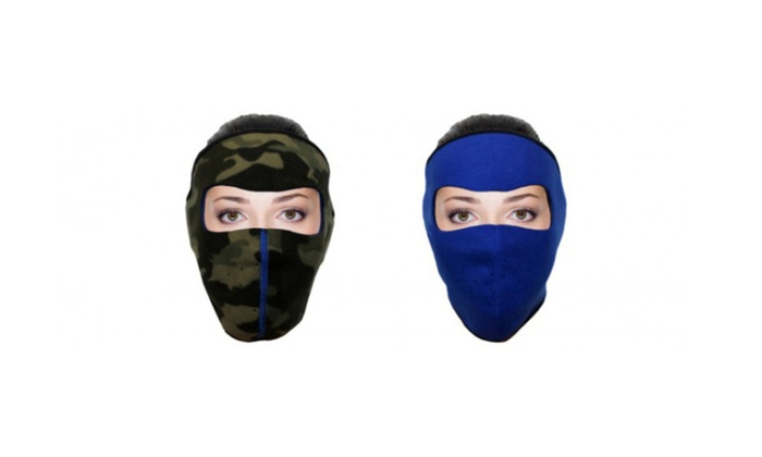 Cold Weather Mask Double Sided Soft Fleece for Unisex