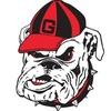 Fremont Die 58721 Georgia Bulldogs- 12 in. Vinyl Magnet
